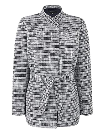 61a68dae69a Simply Be Womens Tweed Belted Wrap Jacket: Amazon.co.uk: Clothing