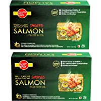 Golden Prize Smoked Pink Salmon Fillets in Oil 115Gms Each - Pack of 2 Units