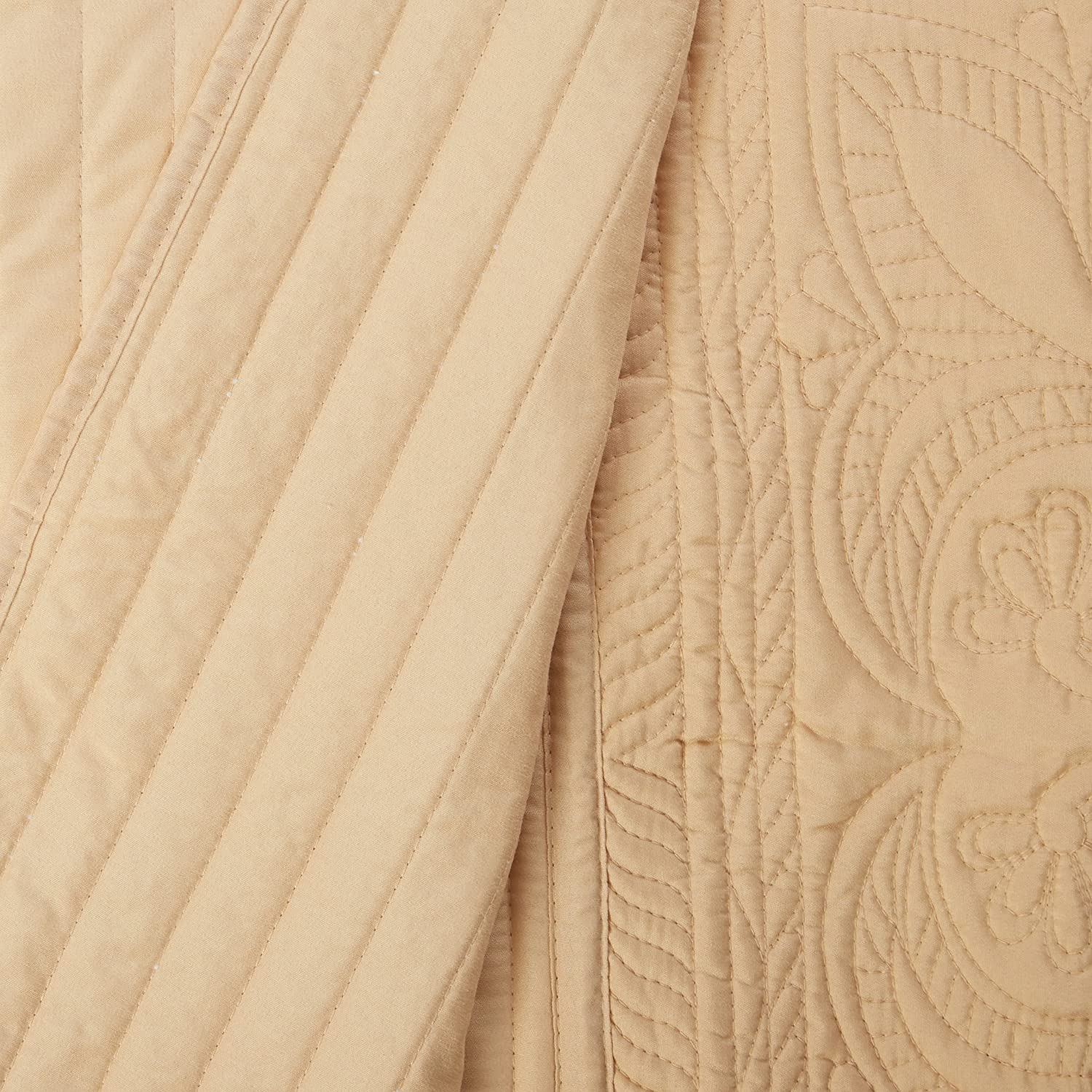 Twin Gold Lifestyle French Tile Bedspread