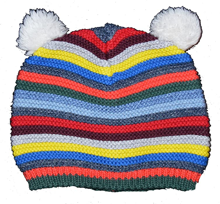 a945da75a1be1 Amazon.com  Baby Gap Crazy Stripe Bear Garter Sweater Beanie Hat 12-18  Months  Clothing