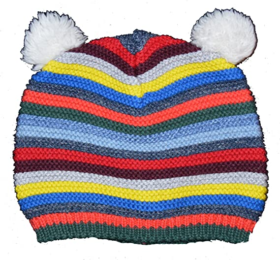 0e4ad14e59e5 Amazon.com  BabyGap Baby Gap Crazy Stripe Bear Garter Sweater Beanie ...