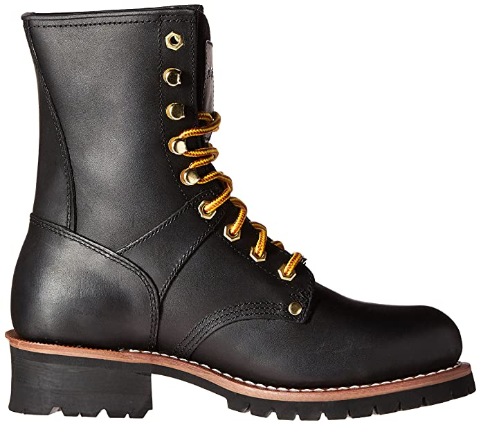"""93e07904c43 AdTec Men's 9"""" Super Logger Boots with Steel-Toe Rugged Goodyear Welt  Construction Utility Boot Waterproof"""