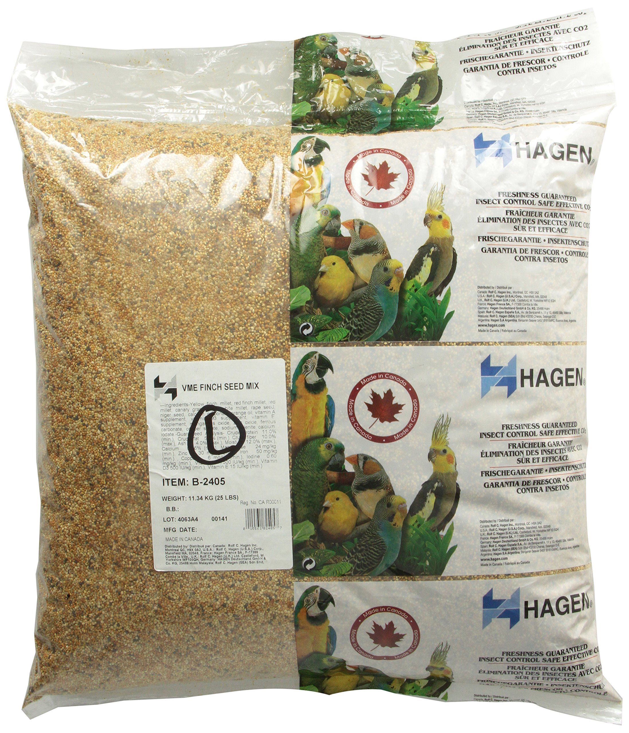 Finch Staple Vme Seed, 25-Pound by Hagen