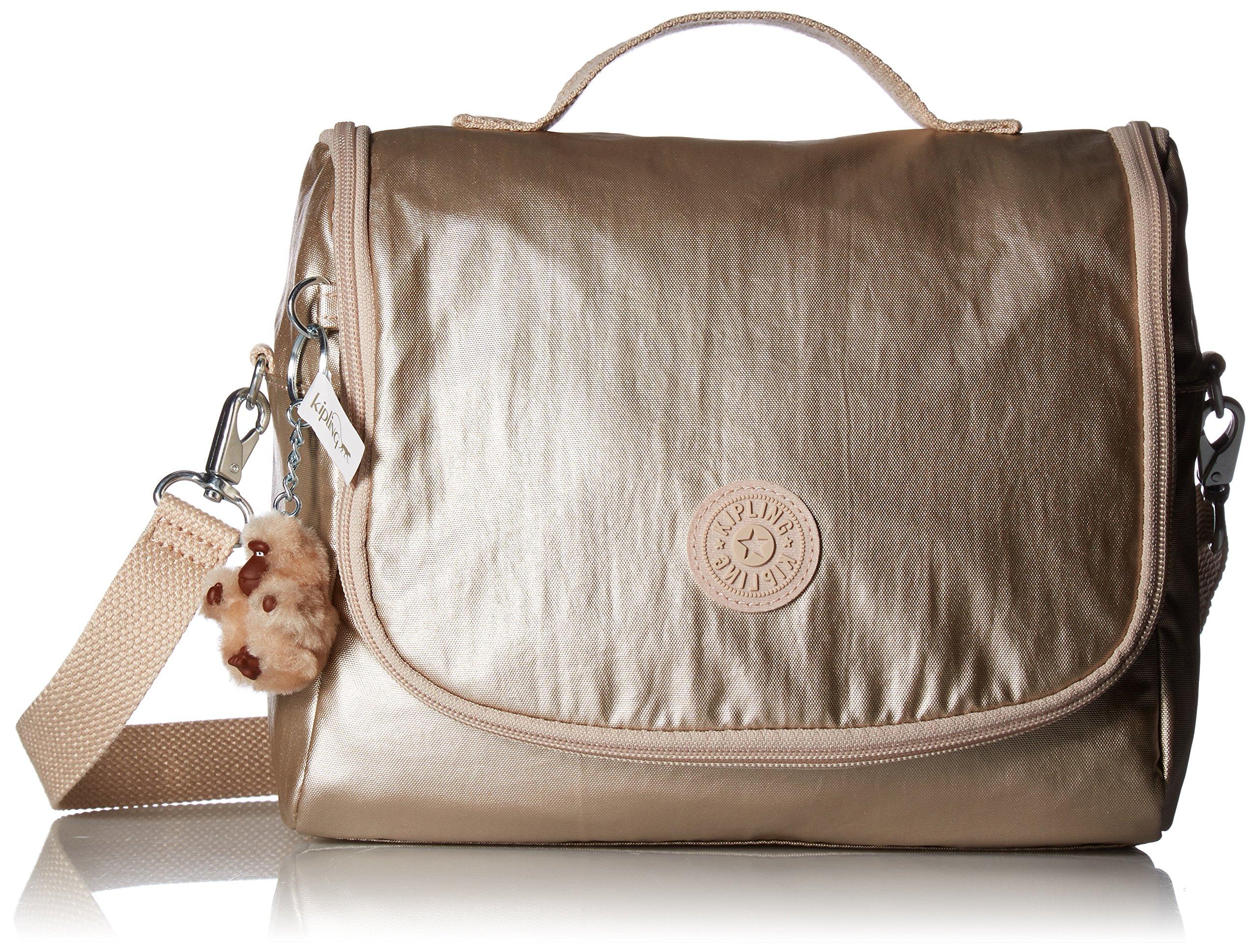 Kipling Kichirou Metallic Lunch Bag One Size Rose Gold Metallic