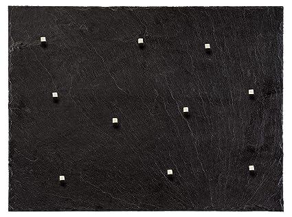 Plateado (Diseño con piedra)! - Panel de pizarra en 60 cm x ...