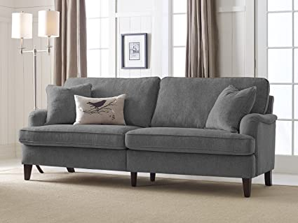 Gentil Serta Carlisle 78u0026quot; Sofa With Pleated Arms In ...