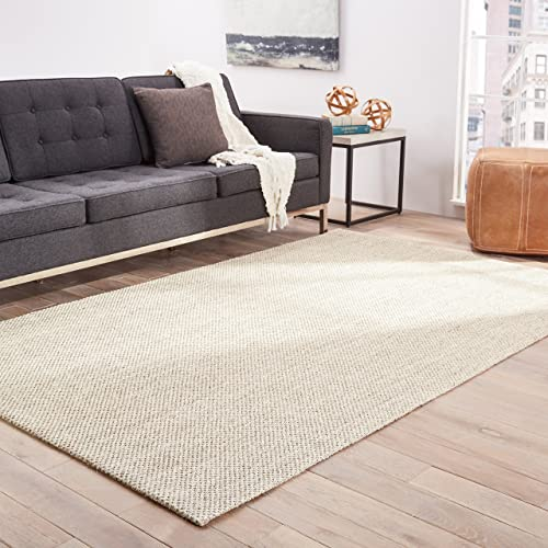 Jaipur Living Naples Natural Fiber Solid Neutral Area Rug 9 X 12
