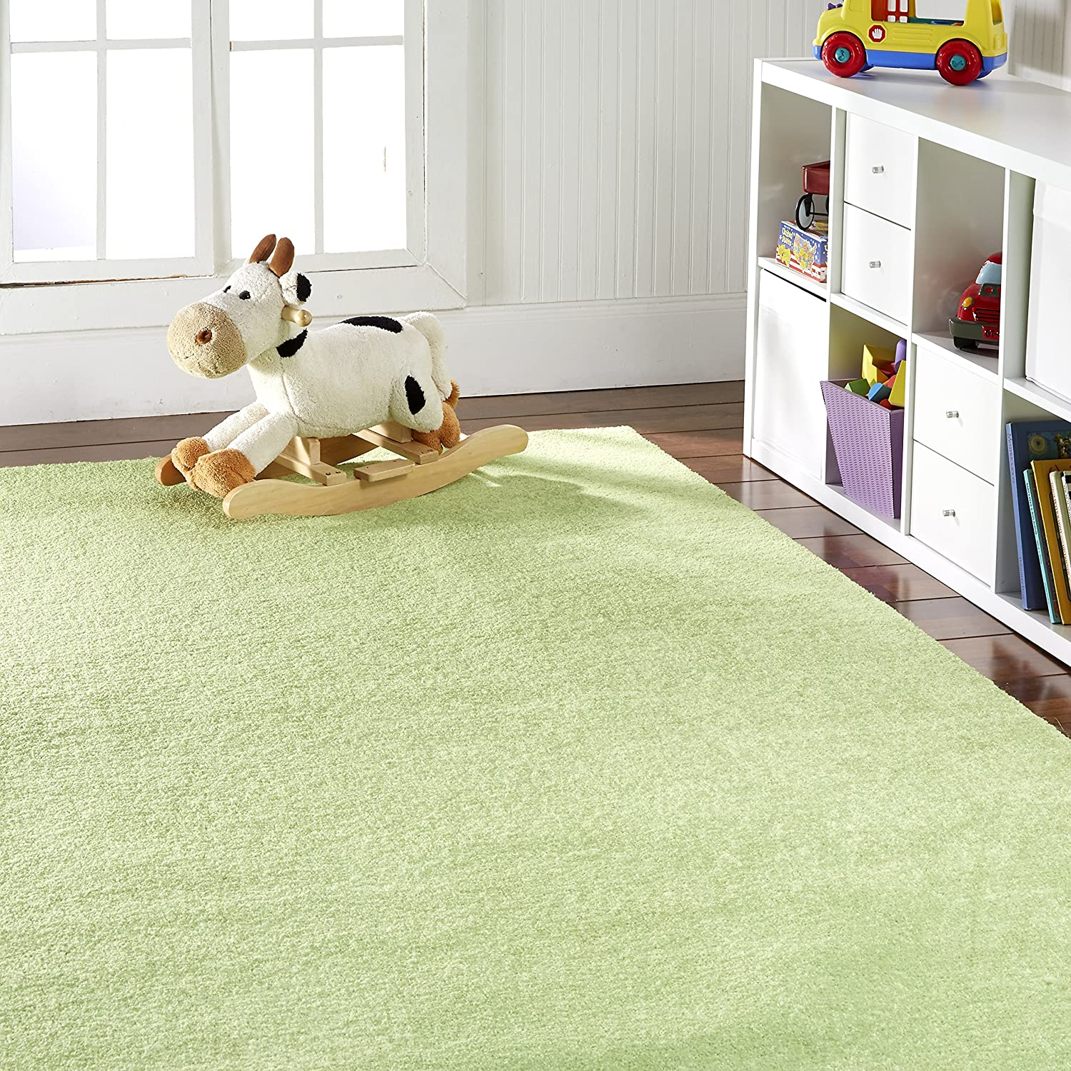 OurSpace Bright Area Rug, 8-Feet by 10-Feet, Lemon Lime