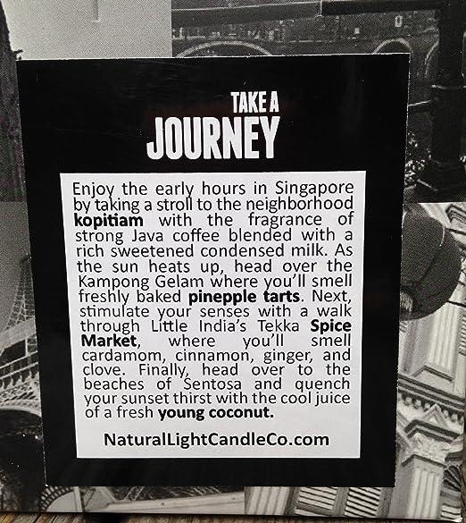 Destino velas, cera de abejas velas, velas de comercio justo - un día en Singapur: Amazon.es: Hogar
