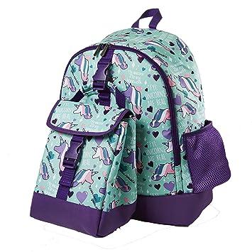 6e5407dfeae1 Fit   Fresh Elena School Backpack with Insulated Lunch Bag (Aqua Unicorns)   Amazon.co.uk  Kitchen   Home
