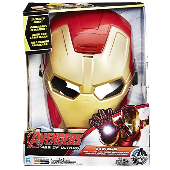 Amazon.com: Marvel Avengers Age of Ultron Iron Man Voice Changer Mask: Toys & Games