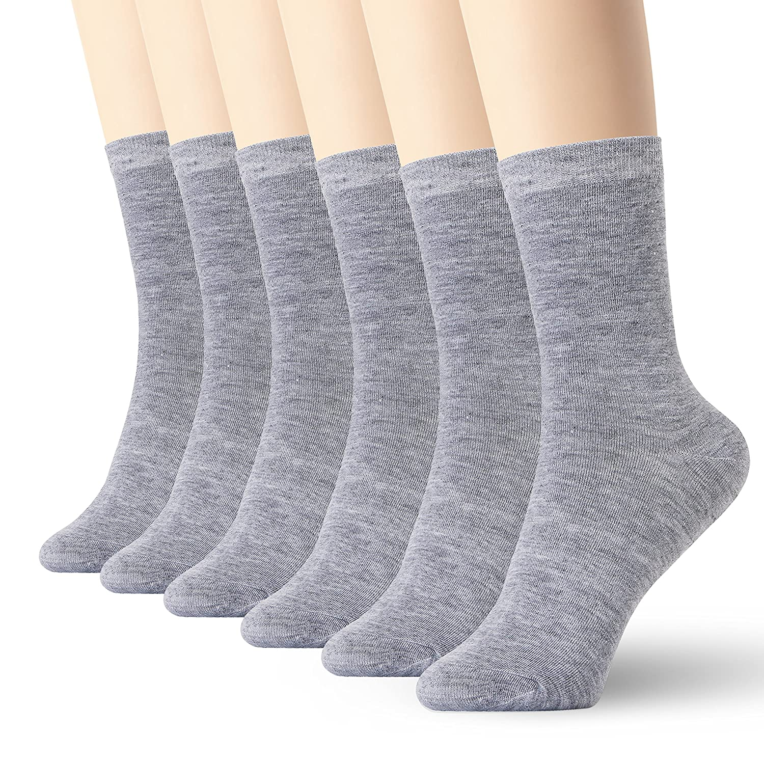 Womens Thin Cotton Socks High Ankle 6 Pack SBB-095