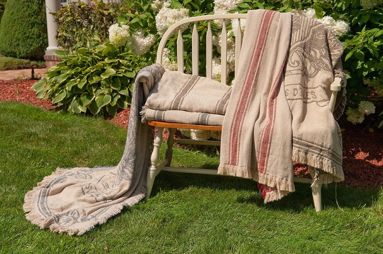 Black VM-BK Rennie /& Rose Vintage Hagen 50 by 70-Inch Throw Blanket with Emblem