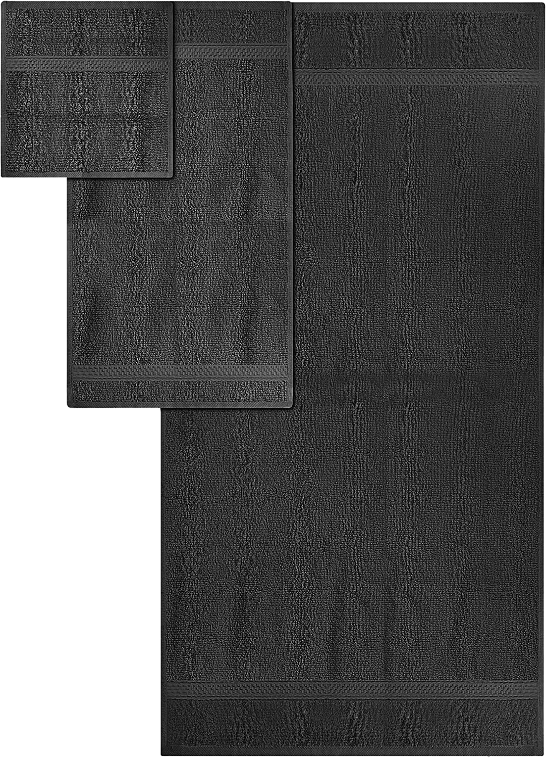 Utopia Towels Towel Set, 2 Bath Towels, 2 Hand Towels, and 4 Washcloths, 600 GSM Ring Spun Cotton Highly Absorbent Towels for Bathroom, Shower Towel, (Pack of 8): Home & Kitchen