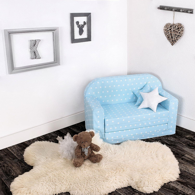 Due Cuscini Decorativi LULANDO Divano Letto Estraibile per Bambini Certificato Oeko-Tex Standard 100