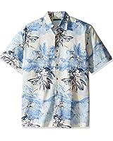 Cubavera Men's Short Sleeve Retro Print Woven Shirt