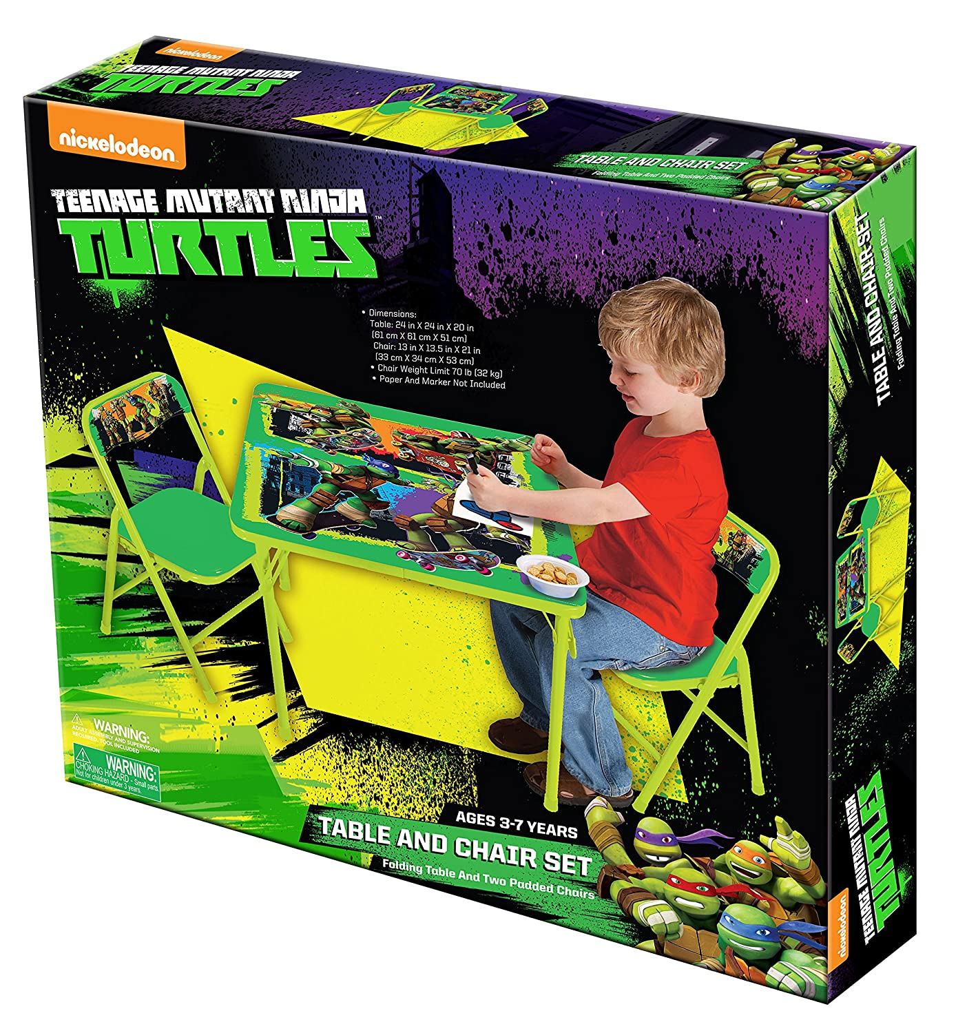 Amazon.com Teenage Mutant Ninja Turtles Maxin and Shellanxin Activity Table Set Toys u0026 Games  sc 1 st  Amazon.com & Amazon.com: Teenage Mutant Ninja Turtles Maxin and Shellanxin ...