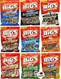 """Bigs Sunflower Seed Flavor Variety Pack of 9 bags (5.35oz each) + """"I Love Seeds"""" Magnet"""