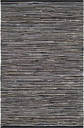 Safavieh Rag Rug Collection RAR130Q Hand Woven Black and Multi Cotton Area Rug 3' x 5'
