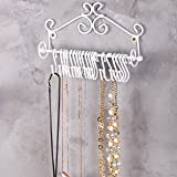 MyGift Wall-Mounted White Metal Scrollwork Design