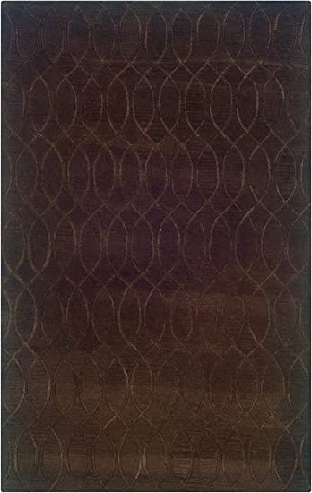 Amazon Com Linon Ashton Collection Hand Tufted Wool Rug 8 X 11 Chocolate Furniture Decor