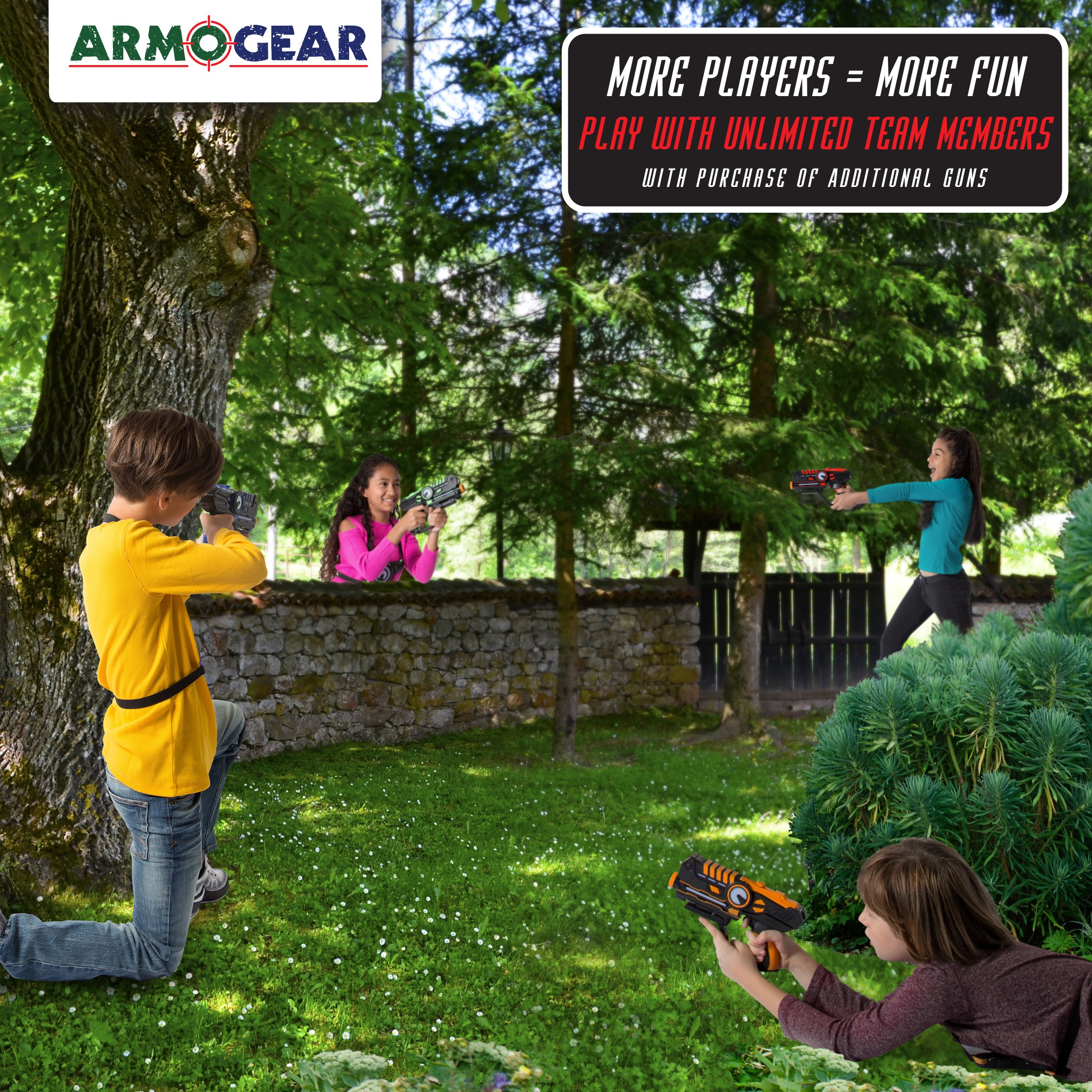 ArmoGear Infrared Laser Tag Guns and Vests - Laser Battle Game Pack Set of 2 - Infrared 0.9mW by ArmoGear (Image #7)