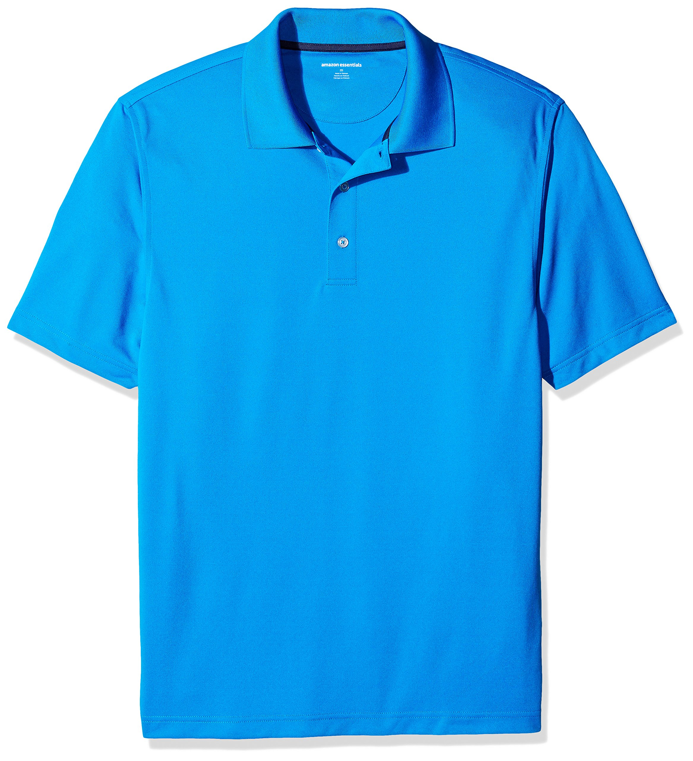 Amazon Essentials Men's Regular-Fit Quick-Dry Golf Polo Shirt, Electric Blue, X-Small by Amazon Essentials