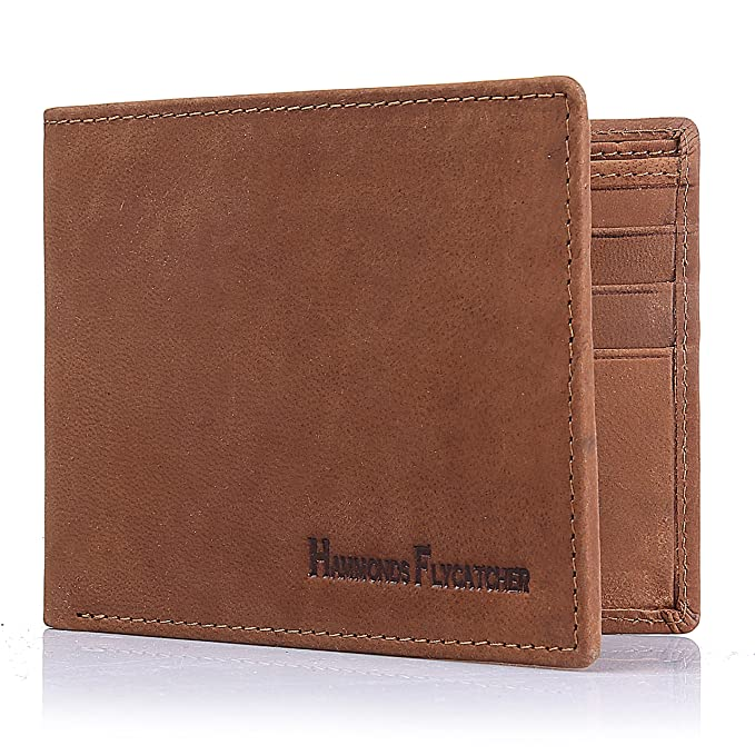 d1a411b8272a Men's Wallet TOP-GRAIN Genuine Leather Wallet Bifold Trifold Slim ...