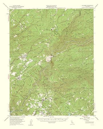 Amazon Com Topographical Map Print Columbia California Quad