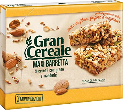 Mulino Bianco Gran Cereale Biscuits Cookies with Cereals & Almonds 105g