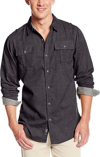 Burnside Camisa Tejida de Manga Larga Cerrada para Hombre: Amazon.es: Ropa y accesorios