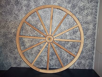 Exceptionnel Steam Bent Hickory Wood Western Wagon Wheel For Home And Garden Decor  30u0026quot; X 1u0026quot