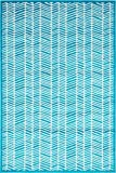 Modern Geometric 4 feet by 6 feet (4' x 6') Metro Turquoise Contemporary Area Rug