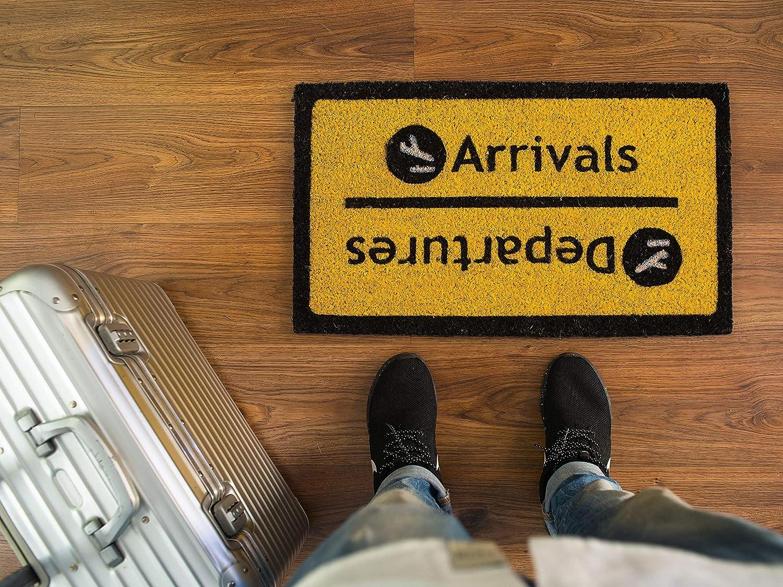 Felpudo llegadas y salidas, aeropuerto