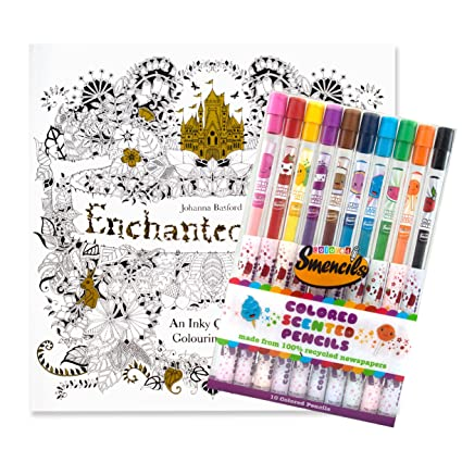 Enchanted Forest Coloring Book W 10 Pack Of Scented Colored Pencils