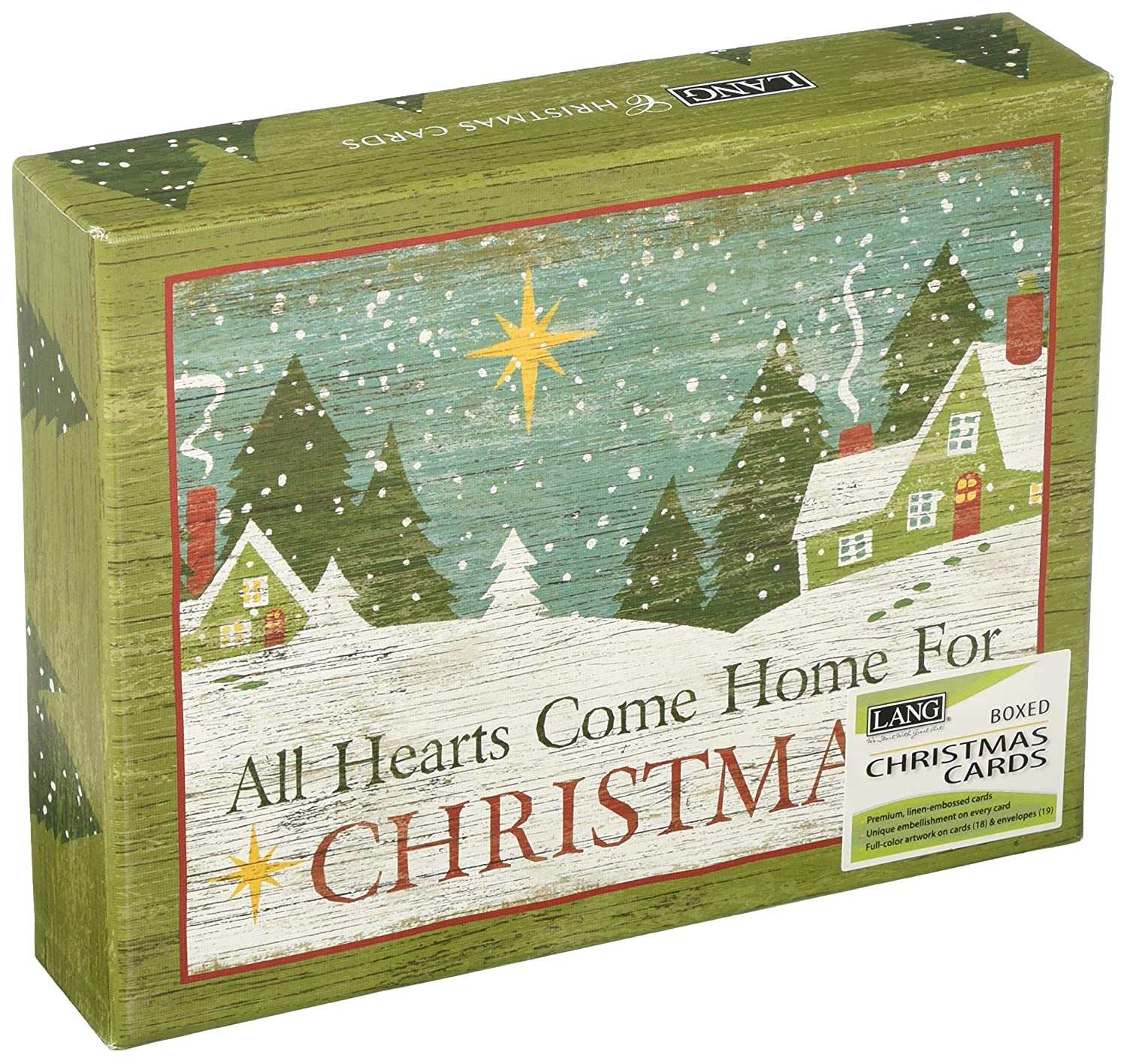 Amazon.com : Lang Christmas Heart Boxed Christmas Card by Suzanne ...