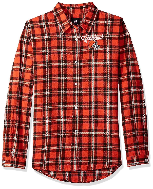 Cleveland Browns 2016 Wordmark Basic Flannel Shirt Womens Large