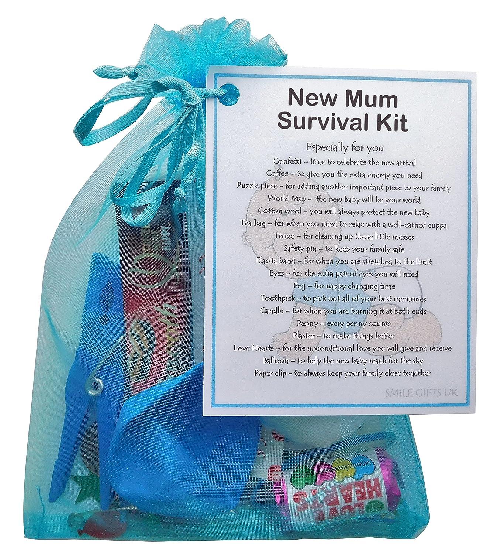 New Mum, New Mother, Mum To Be Keepsake, New Parent Blue New Mum Survival Kit