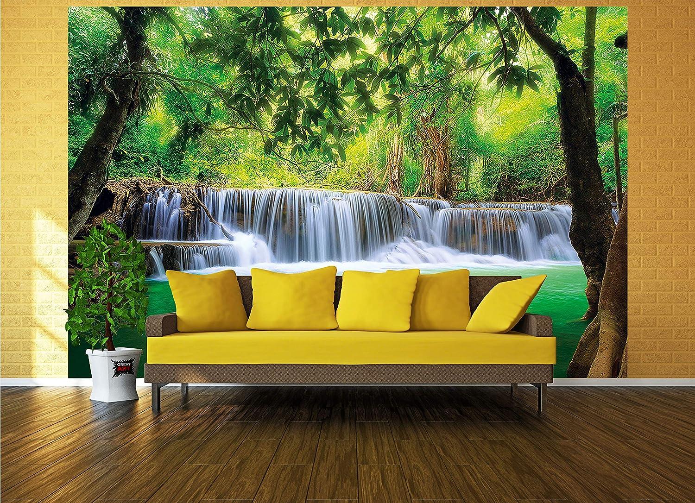 Foto mural Cascada de Feng Shui Decoración Naturaleza Selva Paisaje Paraíso Vacaciones Tailandia Asia Wellness Spa Relax I foto-mural foto póster deco ...