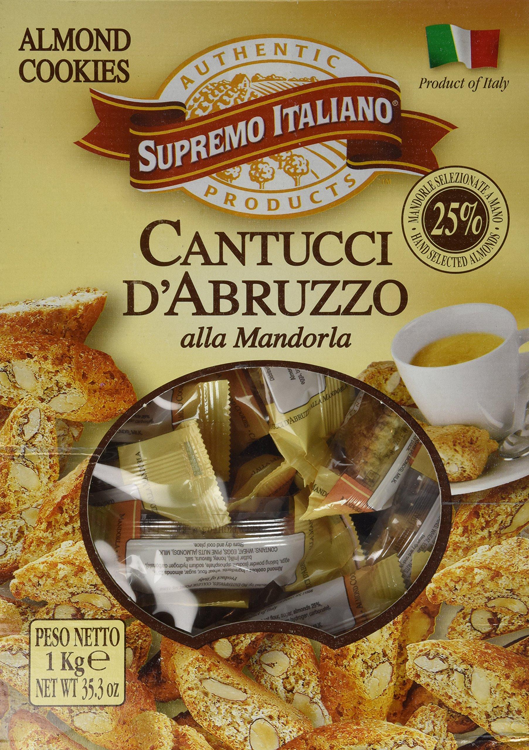 Supremo Italiano: Cantucci D'Abruzzo Almond Cookies (125 Count Box) by Supremo Italiano