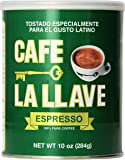 Café La Llave Espresso, Fine Grind, 100% Pure Coffee, Dark Roast, Rich and Aromatic, Latin Espresso, Finely Ground, 10-Ounce Can