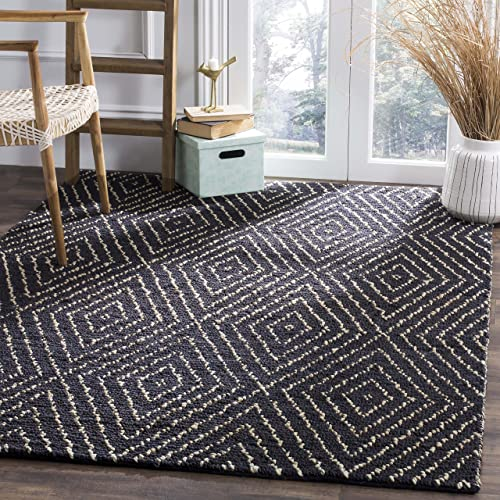 Safavieh Bohemian Collection BOH702A Handmade Area Rug, 8 x 10 , Black Ivory