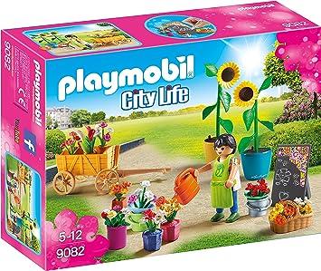 Playmobil Centro Comercial- Tienda de Flores Playset de Figuras de Juguete, 7,6 x 18,6 x 25,2 cm (Playmobil 9082): Amazon.es: Juguetes y juegos