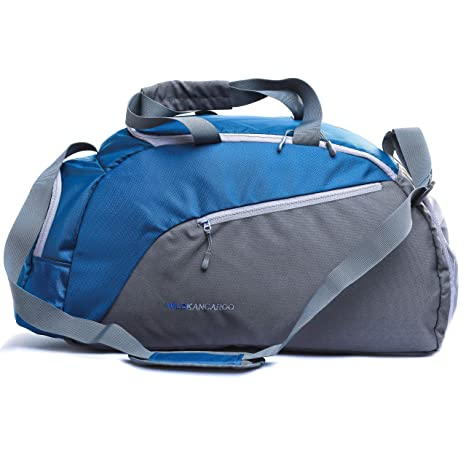 806fa0f897 Stylish Travel Duffel Bag   Carry On Travel Bag for Luggage Made of Nylon -  Weekend Sports Overnight Outdoor Camping  Wildkangaroo-Rider-40L    Amazon.in  ...