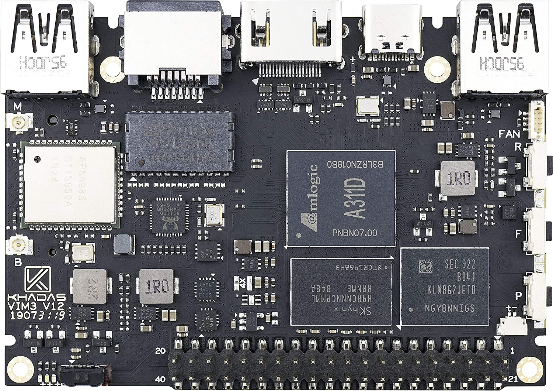 2X2 MIMO with RSDB Khadas VIM3 Basic Single Board Computer with LPDDR4 2+16GB EMMC AP6356S Wi-Fi