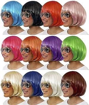 Balinco Sexy Bob Peluca Wig Cabaret Charleston Pelucas para Carnaval & Carnaval - Cabaret Púrpura