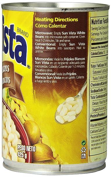 Amazon.com : Sun Vista White Beans, 15 oz : Grocery & Gourmet Food