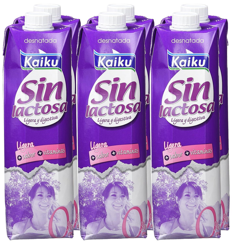 Kaiku Leche Sin Lactosa Desnatada - Paquete de 6 x 1000 ml - Total 6000 ml: Amazon.es: Amazon Pantry