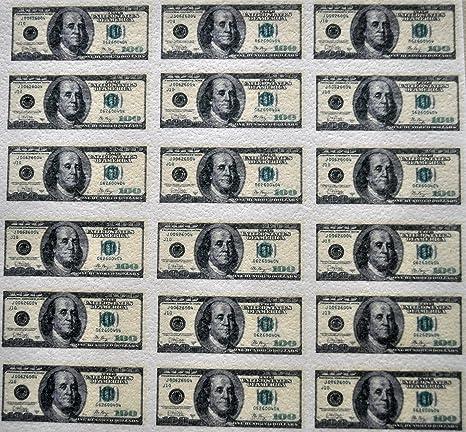 Edible Wafer Mini 100 Dollar Bills ~ BUY TWO GET THIRD FREE!