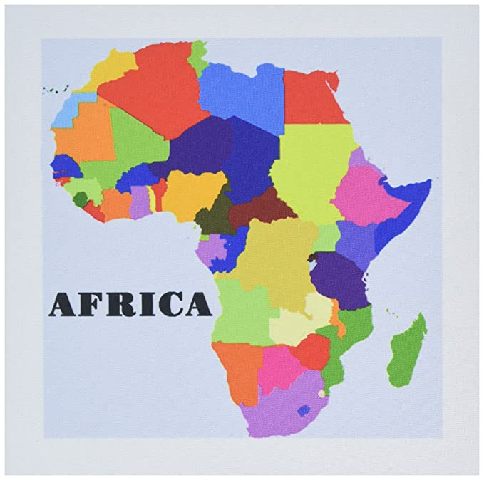 Colorful Map Of Africa.Amazon Com 3drose Llc 8 X 8 X 0 25 Inches Mouse Pad